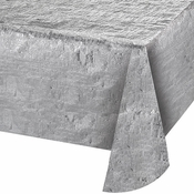 Silver Metallic Tablecloths sold in quantities of  1 / pkg, 12 pkgs / case