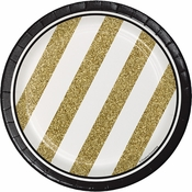 Black and Gold Dessert Plates 96 ct