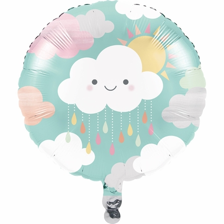 Clouds Mylar Balloons 10 ct