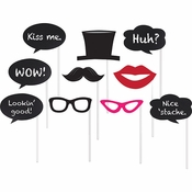 Chalkboard Photo Booth Props 60 ct