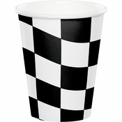 Black and White Check Cups 96 ct