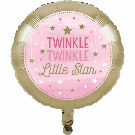 One Little Star Girl Mylar Balloons 10 ct