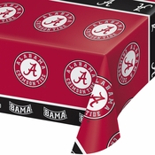 University of Alabama Plastic Tablecloths 12 ct