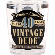 Vintage Dude 40th Birthday Shot Glasses 6 ct