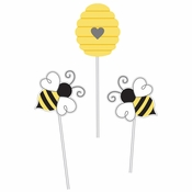 Bumblebee Baby Shower Centerpieces Sticks 18 ct