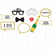 Wedding Photo Booth Props 60 ct