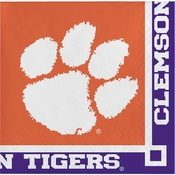 Clemson University Beverage Napkins 240 ct