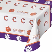 Clemson University Plastic Tablecloths 12 ct