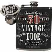 Vintage Dude 50th Birthday Flasks 4 ct