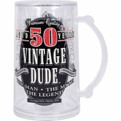 Vintage Dude 50th Birthday Tankards 4 ct