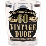 Vintage Dude 60th Birthday Shot Glasses 6 ct