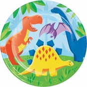 Friendly Dinosaur Dinner Plates 96 ct