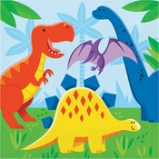 Friendly Dinosaur Luncheon Napkins 192 ct