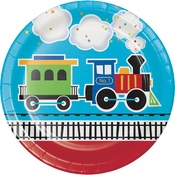 All Aboard Train Dinner Plates 96 ct