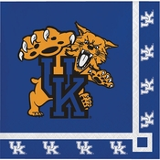 Blue and white University of Kentucky Beverage Napkin sold in quantities of 20 / pkg, 12 pkg / case