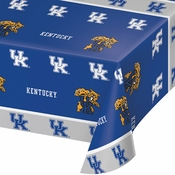 Blue and white University of Kentucky Tablecloths sold in quantities of 1 / pkg, 12 pkg / case
