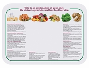 """White and green Nutrition 15"""" x 20"""" Traymat in quantities of 1,000 / pkg, 1 pkg / case"""
