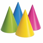 Neon Party Hats 96 ct
