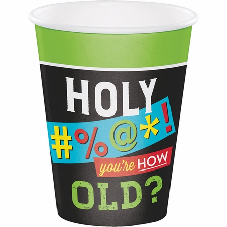 Old Age Humor 12 oz Paper Cups 96 ct