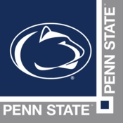 Blue and white Penn State Beverage Napkin sold in quantities of 20 / pkg, 12 pkgs / case
