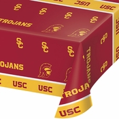 University of Southern California Plastic Tablecloths 12 ct