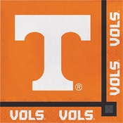 Orange and white Tennessee University Beverage Napkin sold in quantities of 20 / pkg, 12 pkgs / case