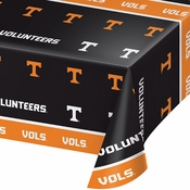 Orange and white Tennessee University Tablecloths sold in quantities of 1 / pkg, 12 pkgs / case