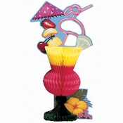 Tropical Drink Centerpieces 6 ct