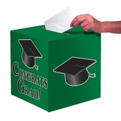 Graduation Card Boxes Green