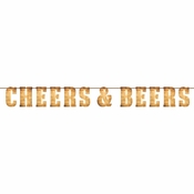 Cheers and Beers Letter Banners 6 ct