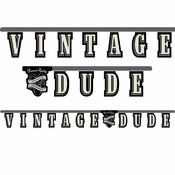 Vintage Dude Party Banner 12 ct
