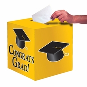 Graduation Card Boxes Yellow