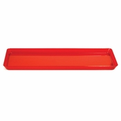 For contemporary styling at competetive prices, choose the Translucent Red TrendWare Rectangular Tray 6 ct sold in quantities of 1 / pkg, 6 pkgs / case