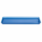 For modern appeal at budget friendly price points choose the Translucent Blue TrendWare Rectangular Tray sold in quantities of 1 / pkg, 6 pkgs / case