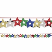 Multicolor Stars Foil Garland 12 ct