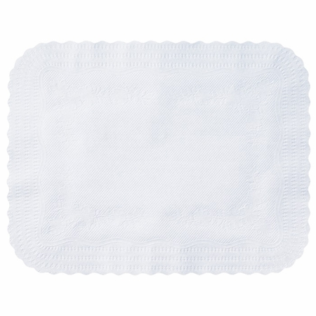 """White Medium Weight 15"""" x 20"""" Traymat sold in quantities of 1000 per case"""