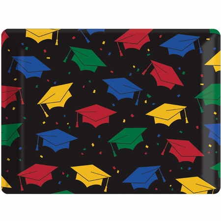 Mortarboard Toss Graduation Serving Trays 12 ct