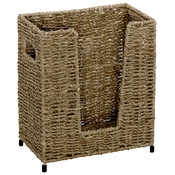 "9.5"" x 11"" Tall Seagrass Guest Towel Basket 1 ct"