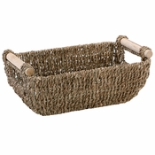 "12"" x 4.25"" Seagrass Guest Towel Basket with Handles 1 ct"