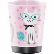 Cat Party Plastic Keepsake Cups 12 ct