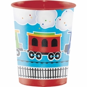 All Aboard Train Plastic Keepsake Cups 12 ct