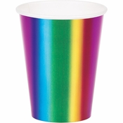 Rainbow Foil Cups 96 ct