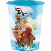 Treasure Island Pirate 16 oz Plastic Cups 12 ct