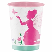 Floral Fairy Sparkle 16 oz Plastic Cups 12 ct