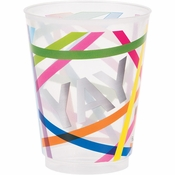 Birthday Cake by French Bull Plastic Glasses 12 ct