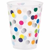 Birthday Dots by French Bull Plastic Glasses 12 ct