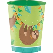 Sloth Party 16 oz Plastic Cups 12 ct