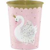 Stylish Swan 16 oz Plastic Cups 12 ct