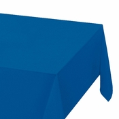 "Blue Plastic Tablecloths measures 54"" x 108"" sold in quantities of 1 / pkg, 12 pkgs / case"