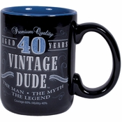 Vintage Dude 40th Birthday Coffee Mugs 2 ct